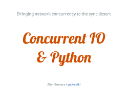 Bringing network concurrency to the sync desert