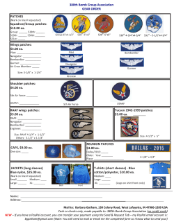 380th Bomb Group Association GEAR ORDER PATCHES Squadron