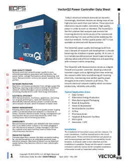 VectorQ2 Power Controller Data Sheet