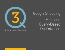 Google Shopping – Feed and Query-Based Optimization
