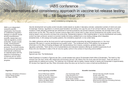 IABS conference 3Rs alternatives and consistency approach in