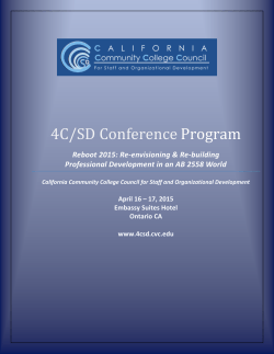 4C/SD Conference Program