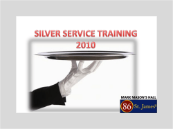SILVER SERVICE TRAINING