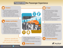 TRANSFORM the Passenger Experience