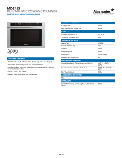 MD24JS BUILT-IN MICROWAVE DRAWER