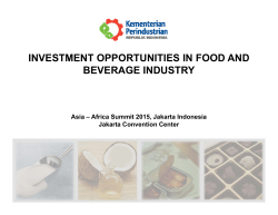 investment opportunities in food and beverage industry