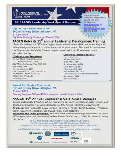 AAGEN Holds its 11 Annual Leadership Development Training