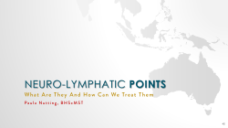 What are Neurolymphatic Points