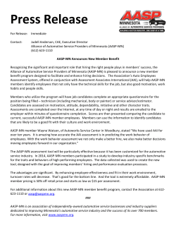 AASP-MN Announces Employee Assessment Program
