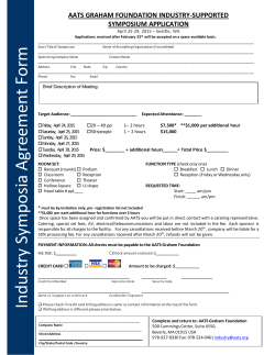 Industry Symposium Application