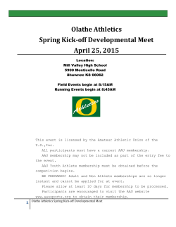 Olathe Athletics Spring Kick-off Developmental Meet