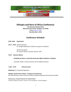 Ethiopia and Horn of Africa Conference