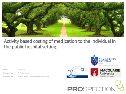 Activity based costing of medication to the individual in the public