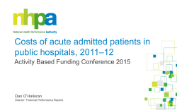 Costs of acute admitted patients in public hospitals, 2011–12