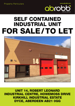 FOR SALE/TO LET