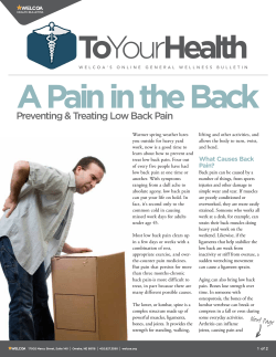 Preventing & Treating Low Back Pain