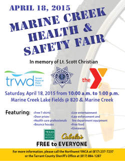 Marine Creek Health & Safety Fair Marine Creek