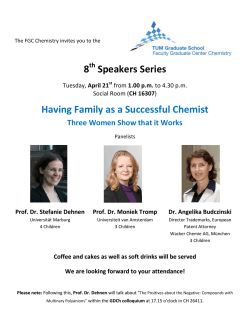 8 Speakers Series Having Family as a Successful Chemist