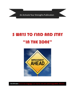 5 Ways To Find And Stay In The Zone – Free PDF