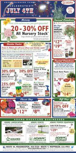 Garden Ads - Adams Fairacre Farms