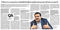 `There is a need to rebuild India`s infrastructure from