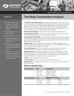 The Body Composition Analysis