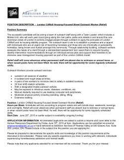 POSITION DESCRIPTION - London CAReS Housing
