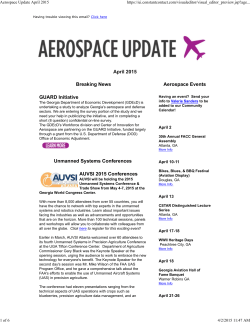 Aerospace Update April 2015 - The Georgia Center of Innovation for