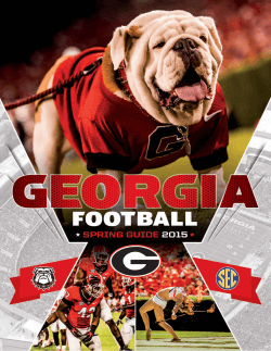 2015 Georgia Spring Football Media Guide