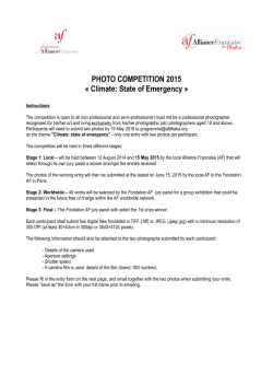 PHOTO COMPETITION 2015 « Climate: State of Emergency »