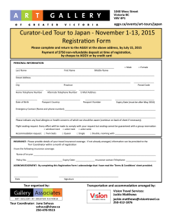 Curator-Led Tour to Japan - November 1
