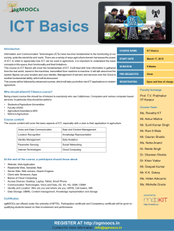ICT Basics Brochure
