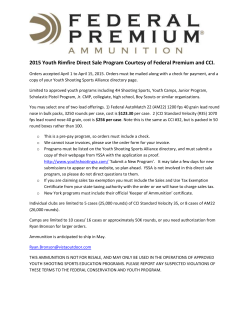 2015 Youth Rimfire Direct Sale Program Courtesy of Federal