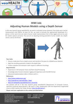 HIWI Job: Adjusting Human Models using a