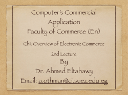 Overview of Electronic Commerce 2 - Ahmed Eltahawy