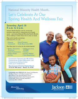 Let`s Celebrate At Our Spring Health And Wellness Fair