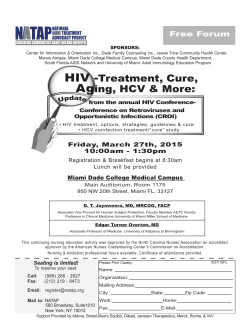 HIV-Treatment, Cure, Aging HCV & More (March 27th)