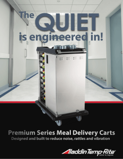 Premium Meal Delivery Quiet Carts - Aladdin Temp-Rite