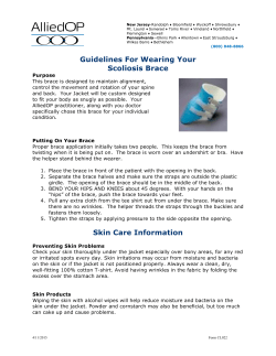 Guidelines For Wearing Your Scoliosis Brace Skin Care