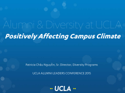 Positively Affecting Campus Climate