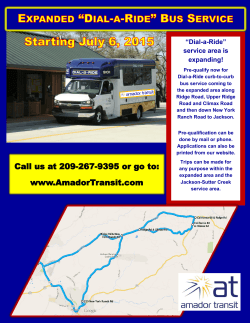 Dial-a-Ride service area expanding July 6, 2015.