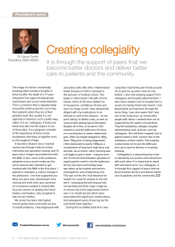 creating collegiality  - Australian Medical Association NSW