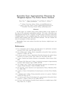 Korovkin Type Approximation Theorems In Weighted