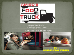 AMIGOS FOOD TRUCKS FOOD TRUCK BUSNIESS PLAN