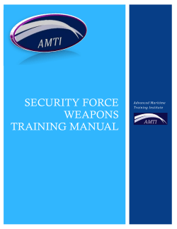 security force weapons training manual