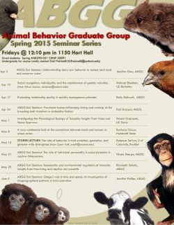 Spring 2015 - Animal Behavior Graduate Group