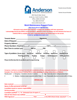 APM Tenant Work Request Form - Anderson Property Management