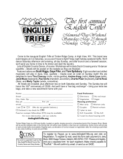 English Trifle 2015 Flyer
