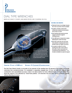 DIAL TYPE WRENCHES - Angels Instrumentation Inc.