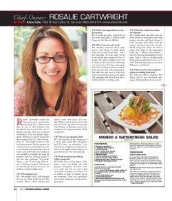 Chef-Owner: ROSALIE CARTWRIGHT